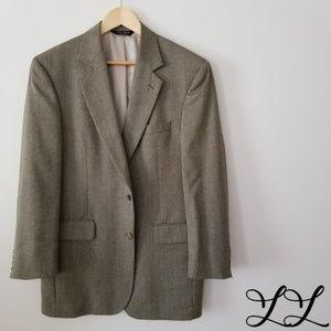 Jos. A. Bank Blazer Gold Tan Beige Brown Wool